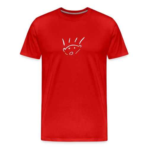 herisson mignon med seul - Men's Premium T-Shirt