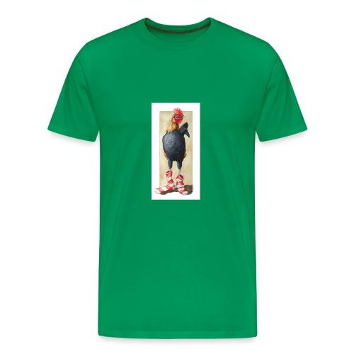 socks on a rooster by opalgryphon jpg - Men's Premium T-Shirt