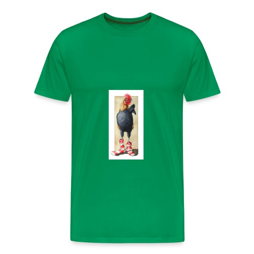 socks on a rooster by opalgryphon jpg - Men's Premium T-Shirt