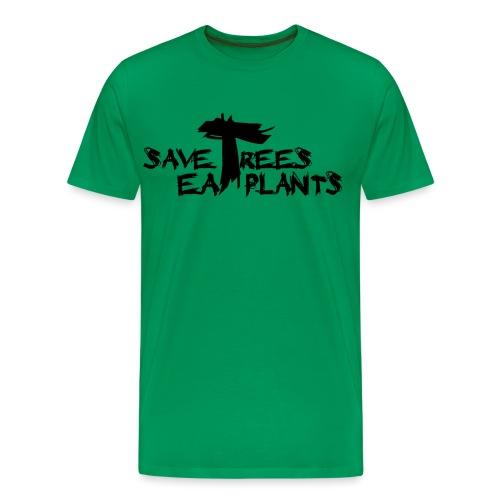 Eat plants, black - Men's Premium T-Shirt
