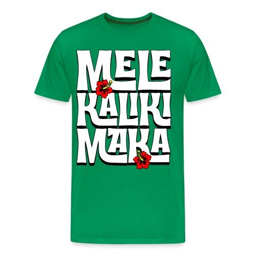 Mele Kalikimaka Hawaiian Christmas Song - Men's Premium T-Shirt