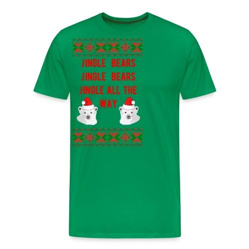 Jingle Bear (Red Text) - Men's Premium T-Shirt