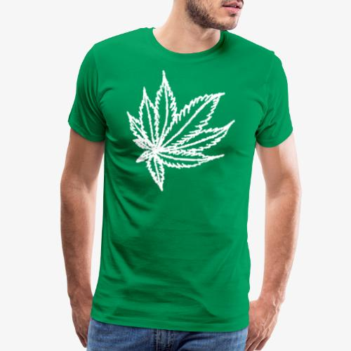 white leaf - Men's Premium T-Shirt