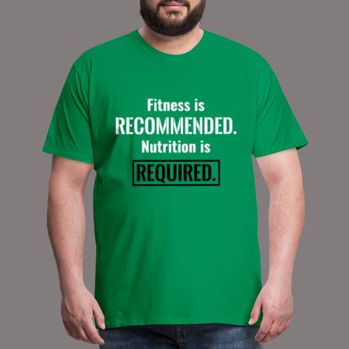 Mens_Nutrition_Black - Men's Premium T-Shirt
