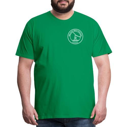 White Circle Logo - Men's Premium T-Shirt