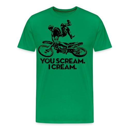 FMX Dirtbike Scream Cream - Men's Premium T-Shirt