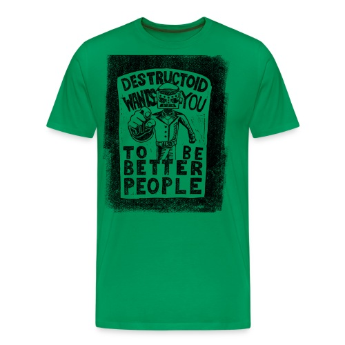 Destructoid Wants You - Men's Premium T-Shirt
