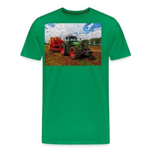 Tractor on a farm! - Men's Premium T-Shirt
