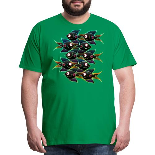A World Full of Smiling Fishes - Men's Premium T-Shirt