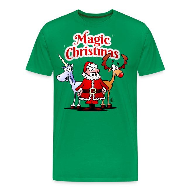 Magic Christmas unicorn - Men's Premium T-Shirt