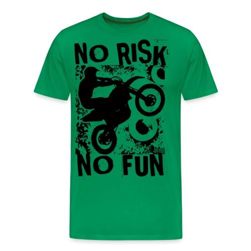 Motocross No Risk No Fun - Men's Premium T-Shirt