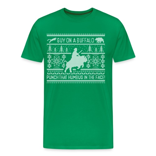 Guy on a Buffalo X-mas 17 - Men's Premium T-Shirt