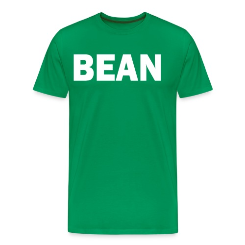 PLACE AND TIME BEAN WHITE - Men's Premium T-Shirt