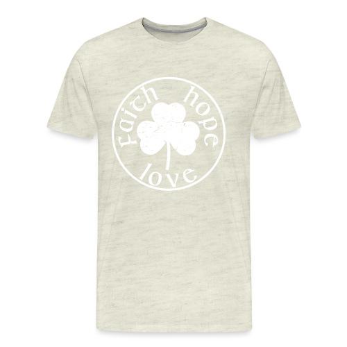 Irish Shamrock Faith Hope Love - Men's Premium T-Shirt