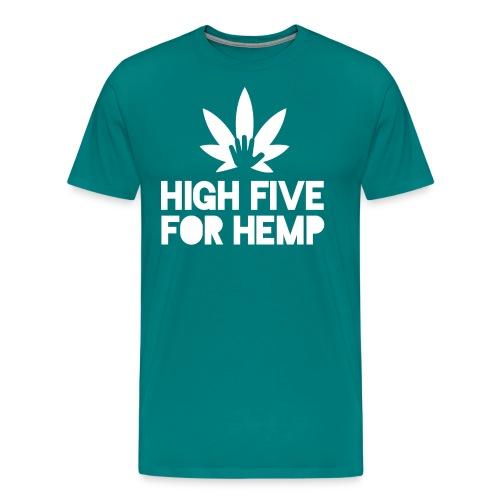 High Five for Hemp - Men's Premium T-Shirt