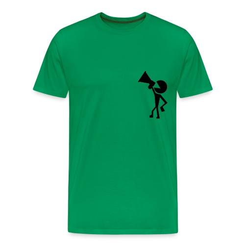 Pacman with megaphone - Men's Premium T-Shirt