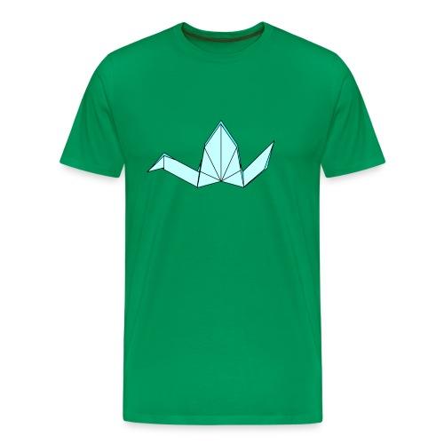origami crane png - Men's Premium T-Shirt