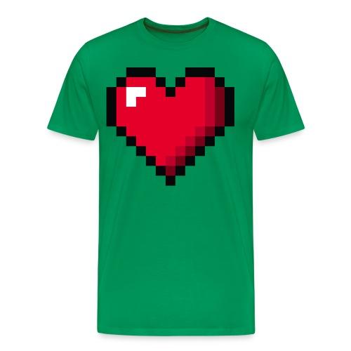 Pixel 8 bit Happy Valentine s Day Heart for Gamers - Men's Premium T-Shirt
