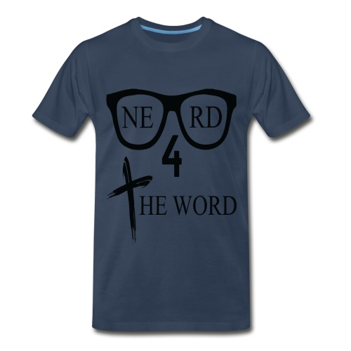 Nerd 4 The Word Design png - Men's Premium T-Shirt