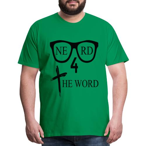 Nerd 4 The Word Design png - Men's Premium T-Shirt
