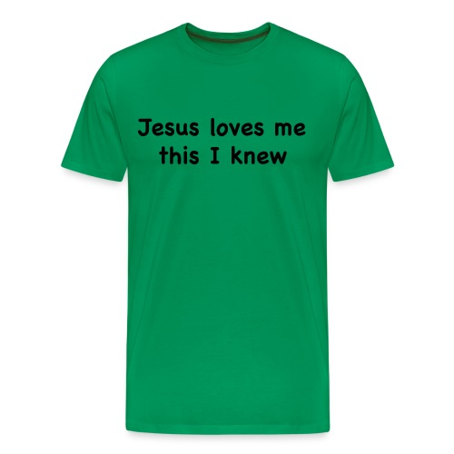 jesus loves me - Men's Premium T-Shirt