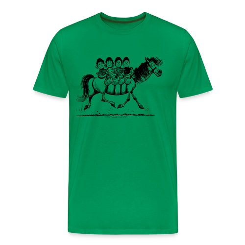 Gang of four Thelwell Cartoon - Men's Premium T-Shirt