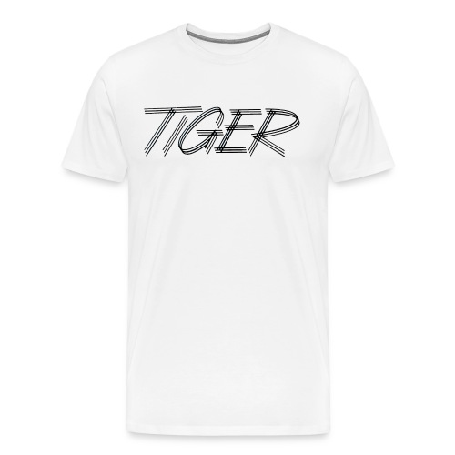 tiger script logo copy black png - Men's Premium T-Shirt