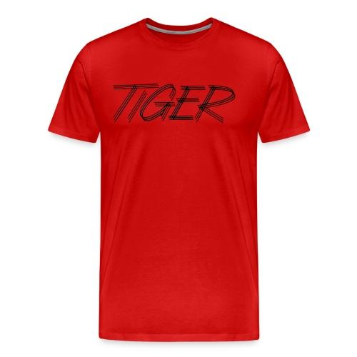 tiger script logo copy black png - Men's Premium T-Shirt