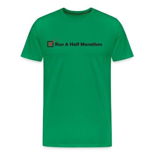 RUN HALF MARATHON CHECK - Men's Premium T-Shirt