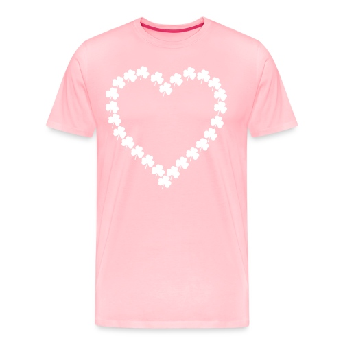 shamrock heart - Men's Premium T-Shirt