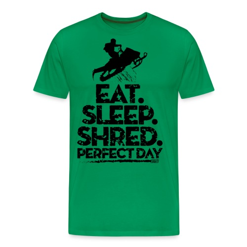 Snowmobile Eat Sleep - Men's Premium T-Shirt
