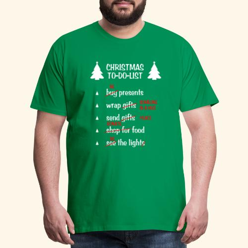 the really christmas to do list - Men's Premium T-Shirt