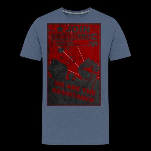 GMG Resistance Poster - Men's Premium T-Shirt