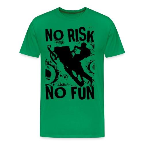 Snowmobiling No Risk - Men's Premium T-Shirt