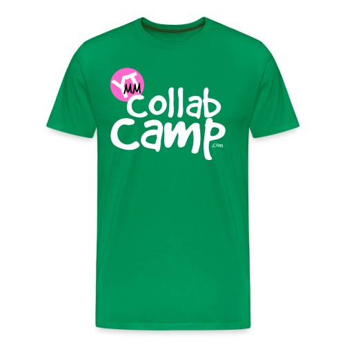 collab camp t pink k white png - Men's Premium T-Shirt
