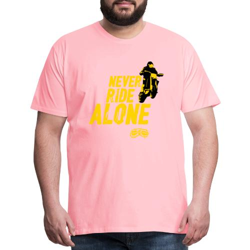 Never Ride Alone Black - Men's Premium T-Shirt