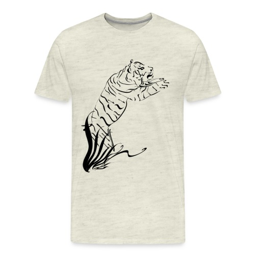 Leaping Tiger 2 black - Men's Premium T-Shirt