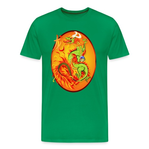 New Year Dragon and Symbol Oval - Men's Premium T-Shirt
