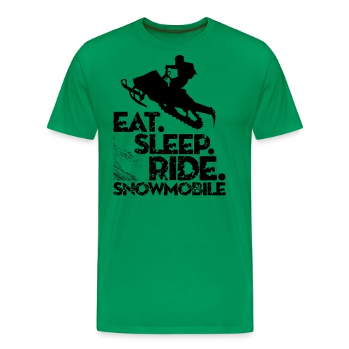 Snowmobiling Eat Sleep - Men's Premium T-Shirt