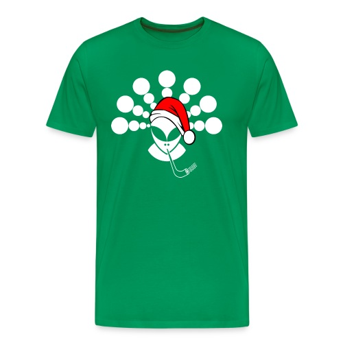 Christmas Alien White - Men's Premium T-Shirt