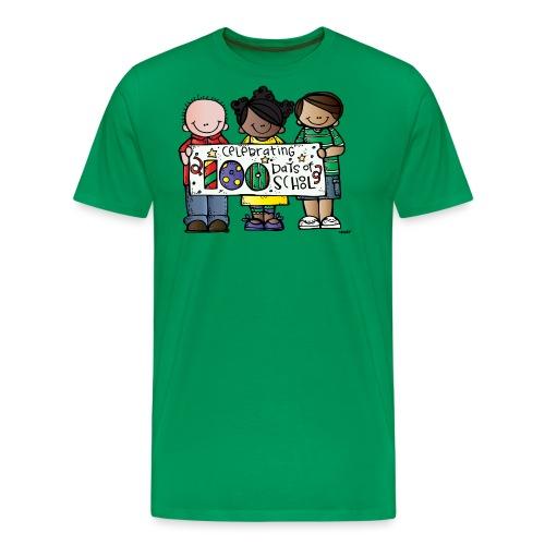 100 days kids banner melonheadz colored png - Men's Premium T-Shirt