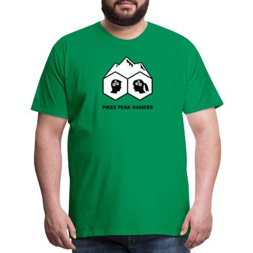 Pikes Peak Gamers Logo (Solid White) - Men's Premium T-Shirt