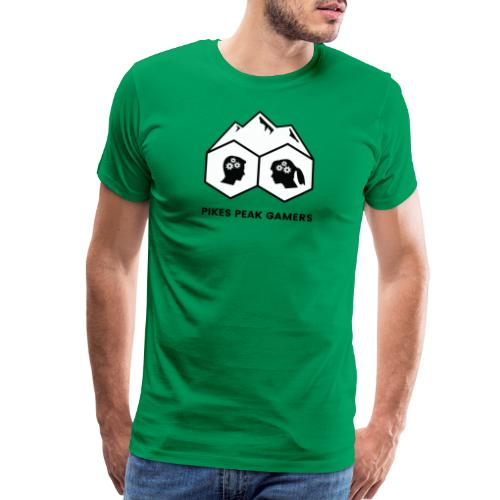 Pikes Peak Gamers Logo (Solid White) - Men's Premium T-Shirt