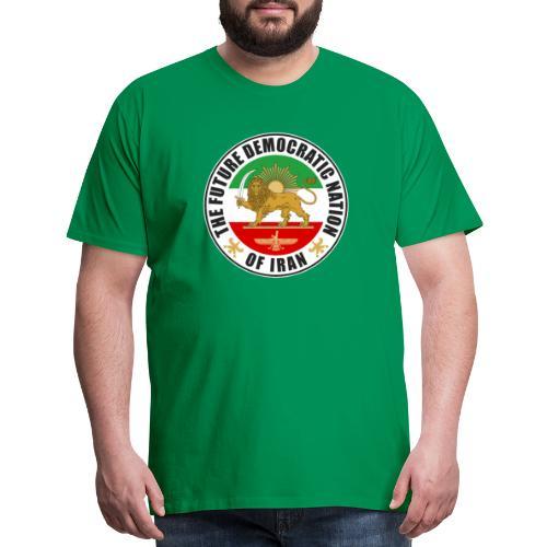 Iran Emblem Old Flag With Lion - Men's Premium T-Shirt