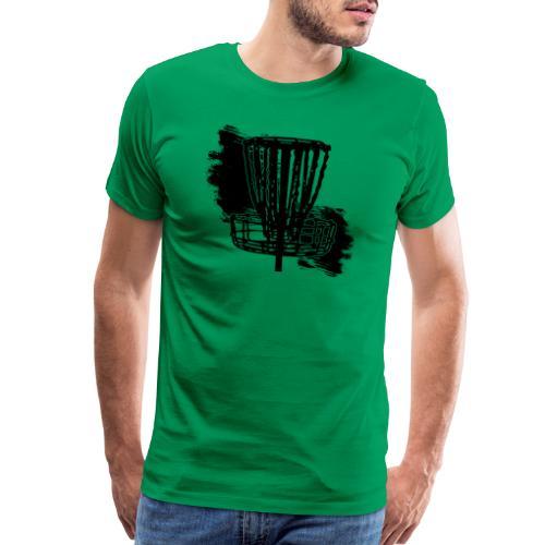 Disc Golf Basket Paint Black Print - Men's Premium T-Shirt