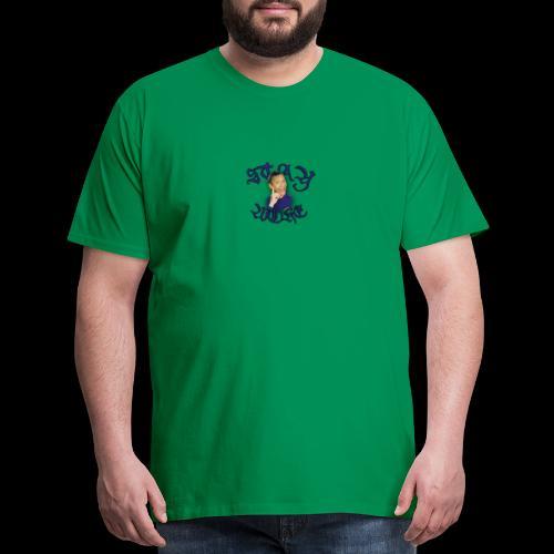 Stay Woke small logo - Men's Premium T-Shirt