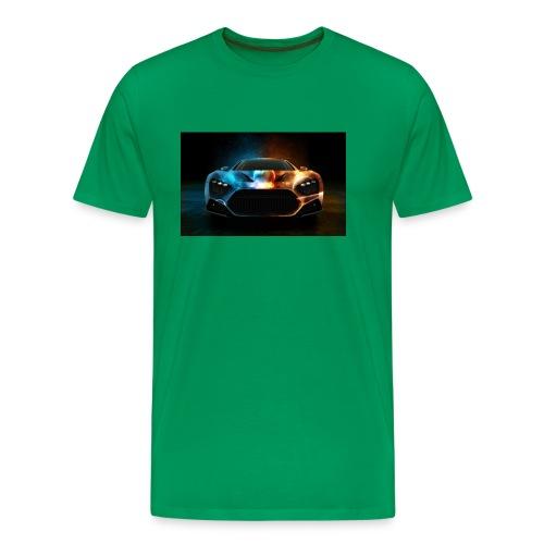 Download Cool Wallpaper Cars Background free stock - Men's Premium T-Shirt