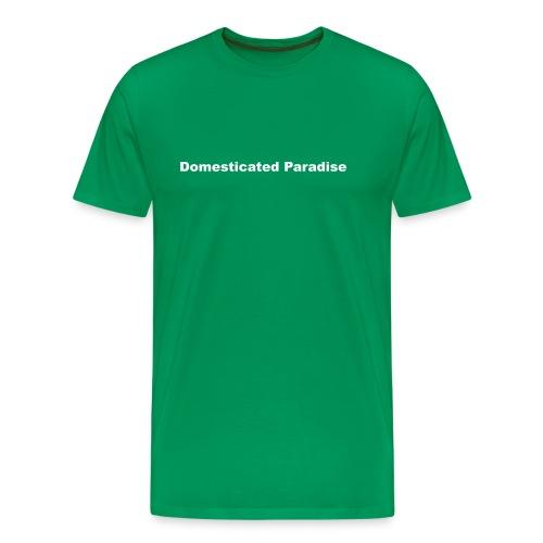 Domesticated Paradise black logo tee - Men's Premium T-Shirt