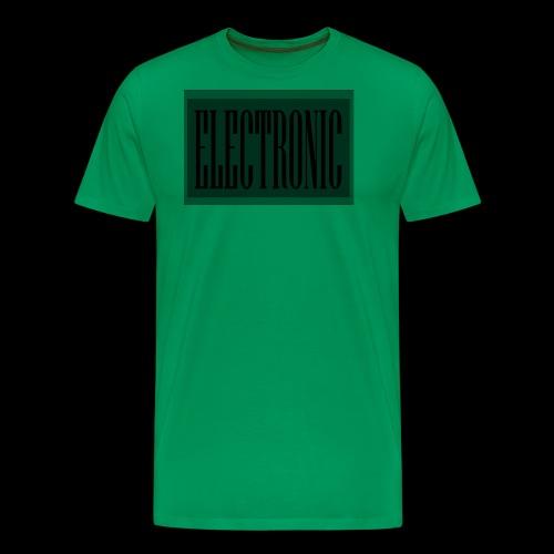 Electronic Logo - Men's Premium T-Shirt