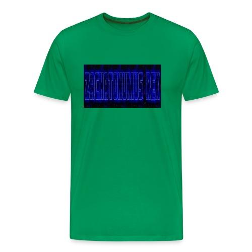 blue fire logo - Men's Premium T-Shirt